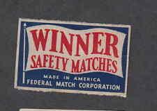 Ancienne étiquette   allumettes   AUSA  OO29 Winner