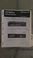 Kenwood kx-660hx service manual original repair book stereo tape deck cassette