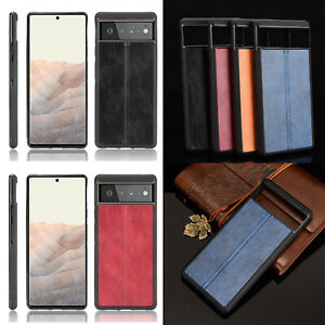 For Google Pixel 6/6 Pro TPU Leather Phone Case Soft Edge Protective Back Cover