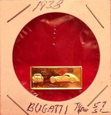 1938 Bugatti  Franklin Mint Great Performance Cars Mini Ingot