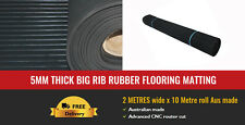5mm thick big rib rubber flooring matting 2 METRES wide x 10 Metre roll Aus made
