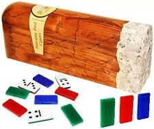 Professional Double Nine domino in cigar shaped wood box