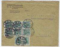 Deutsches Reich, Mi. 88IIa,dunkelgrün/Kriegsdruck, 6er + 2er, Charlottenburg,