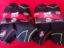 12 Pair Ecko Unlimited Mens No Show Boat Socks Soft Durable Black Stripe 6-12