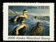 Alaska 2000 State Waterfowl Hunting Permit Stamp Common Eiders #16