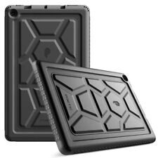 For Fire HD 10 2019 Tablet Case Rugged Silicone Cover w/ Drop Protection Black