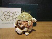 Harmony Kingdom Shell Game Turtles UK Made Marble Resin Box Figurine Nice Color