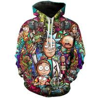 Men/Women Cartoon Rick and Morty Hoodie Sweatshirt Cosplay Sweater Pullover