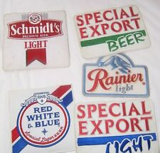 5 Large Beer Patches:Special Export,Rainier Light,Red White & Blue,Schmidt's