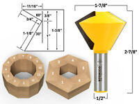 """6 and 12 Sided Bird's Mouth Router Bit - 1/2"""" Shank - Yonico 15139"""