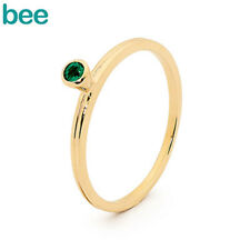 New Classic Stackable Fun With Emerald Cr Emerald Stackable 9Ct Yellow Gold Ring