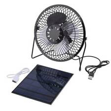 Practical 3W 6V 4inch USB Mini Ventilation Cooling Solar Panel Fans l
