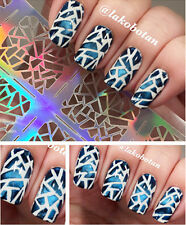 12Tips/Sheet Irregular Triangle Nail Vinyls Nail Manicure Stencil Sticker #206