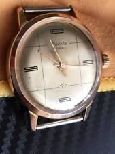 Vintage RARE RAKETA PAKETA Wrist Watch USSR CAL.2609Б AU 20 GOLD 21 jewels USSR