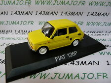 Voiture 1/43 IXO DEAGOSTINI Balkans : FIAT 126 P jaune