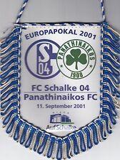 FC Schalke 04 + Wimpel + Banner + Europapokal 2001 vs Panathinaikos FC + RAR +