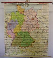 Schulwandkarte Wandkarte BR Deutschland BRD+DDR politisch 1976 108x133 map card