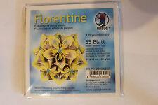 Faltblätter Florentine Chrysanthemen 03 ; 65 Blatt 10 * 10  cm 80 g/qm