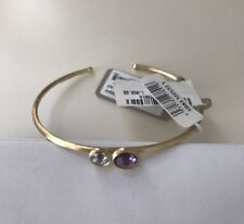 New MARCO BICEGO 18K Blue Topaz Amethyst Bracelet Bangle $1060 Stackable