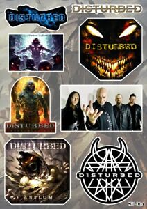 Disturbed Stickers Pack Hard Rock Heavy Metal Music Band Logo