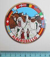 ADESIVO STICKER VINTAGE AUTOCOLLANT AUFKLEBER ALBEROBELLO 8,5X8,5 cm