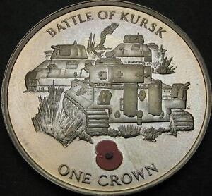 GIBRALTAR 1 Crown 2004 Proof - Battle of Kursk - 3855 ¤