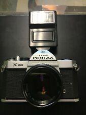 New ListingAsahi Pentax K1000 35mm Slr Camera w/ Smc Pentax-M 50mm 1:2 Lens