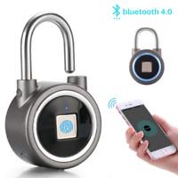 Anti-Theft Smart Fingerprint Lock Keyless Bluetooth iPhone APP Padlock Door Lock