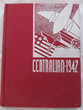 Central High School Minneapolis Minnesota Centralian 1942 Yearbook Annual WWII