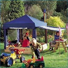 Sandkasten Benjamin mit blauem Dach Windschutz Spielhaus  Kinderpavillon 0844