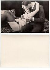 Liebespaar,Mann und halb nackte Frau, Male in love Girl Nude RPPC Foto c.1935(2)