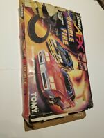 Vintage 1989 Aurora AFX Double Fire Slot Car Track Tomy No. 8614 + Extra Track