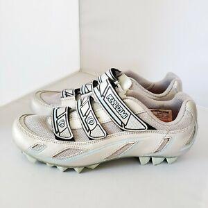 Pearl Izumi Womens 8.5 Vagabond M3 5085 I-Beam MTB Silver 3 Strap Cycling Shoes