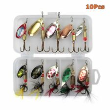 10Pcs Crankbait Sea Perch Salmon Pike Trout Spinners Fishing Lures Tackle Hooks