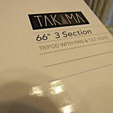 "Takama 66"" 3 Section Tripod with 3 Way Head #TAK-P3H66"