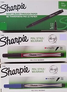 Sharpie Stylo Fine Point Pens Smear, Fade & Water Resistant Select: Color/Number
