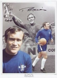 "Chelsea legend Ron ""Chopper"" Harris signed 16 x 12 print -  with COA"
