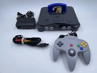 Original Nintendo 64 Console Bundle N64 Controller Cables TESTED NUS-001 READ