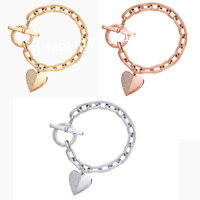 NEW Fashion Jewelry Heart Bracelet Crystal Diamond Chain LetterBangle Bracele