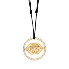 Kuzzoi frontale chakra Yoga rimorchio 925 dorato con swarowski-Cristalli