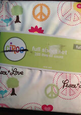 NEW Circo Girls Peace & Love Collection Full Sheet Set 4pc NEW