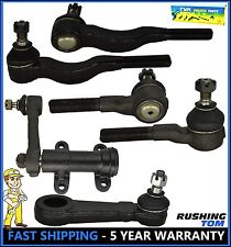 6 Pc Front Steering Idler & Pitman Arm Tie Rod End 4WD 2000 Montero Mitsubishi