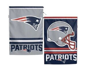 New England Patriots Polyester 12x18 2 SIDED Garden Yard Wall Flag NWT Football