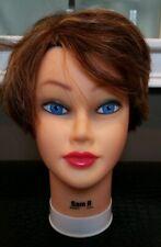 Burmax ~ Sam II ~ Manikin Head ~ 100% Human Hair Mannequin