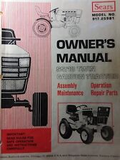 "Sears SS/18 Garden Tractor & 48"" Mower Deck Owner & Parts (2 Manual s) 917.25961"