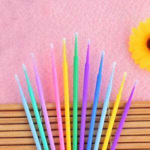 100Pcs Micro Applicator Brush Disposable Mascara Eyelash Cosmetic Cotton Swab B