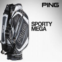 [PING] SPORTY MEGA Sports Golf Caddy Bag BlackGray Color Tour Carry Cart n_o