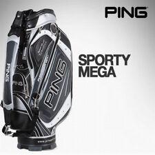 [PING] SPORTY MEGA Sports Golf Caddy Bag BlackGray Color Tour Carry Cart n_o