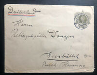 1914 Premboa Netherlands Indies Postal Stationery Cover To Frenbutter Germany