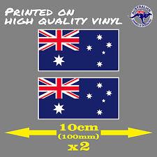 Australian Flag Sticker 2 for 1 - 10cm (100mm) CAR STICKER AUSTRALIA DAY STICKER